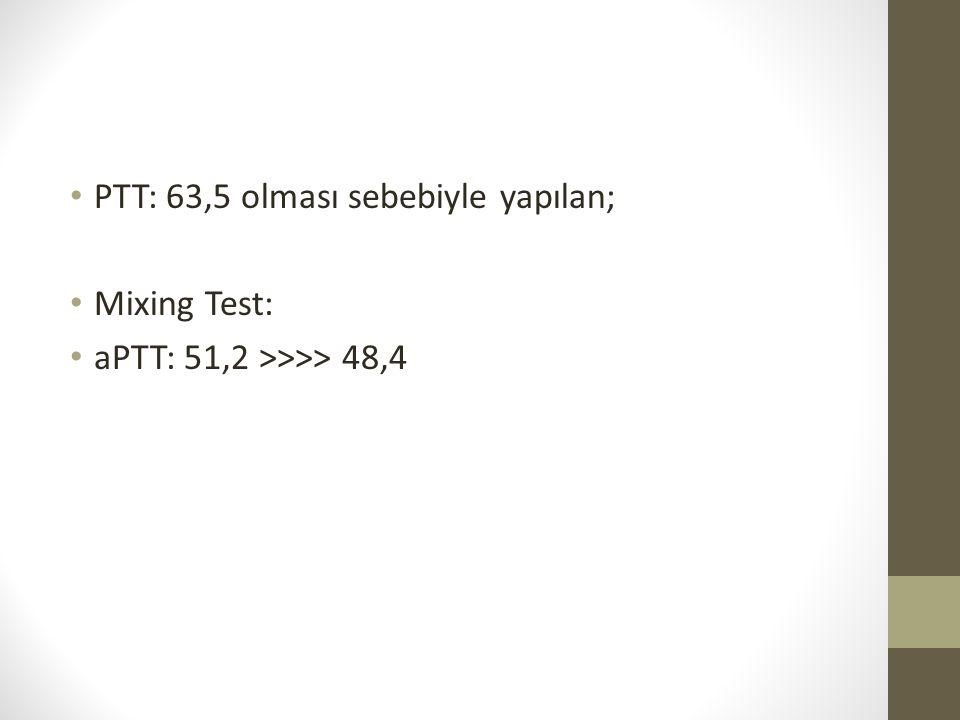 PTT: 63,5 olması sebebiyle yapılan;