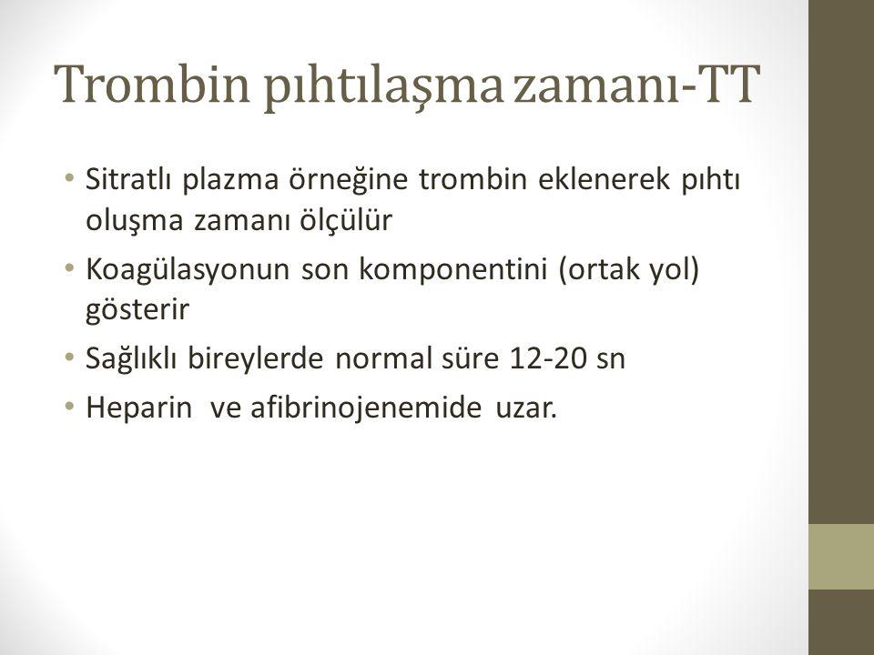Trombin pıhtılaşma zamanı-TT