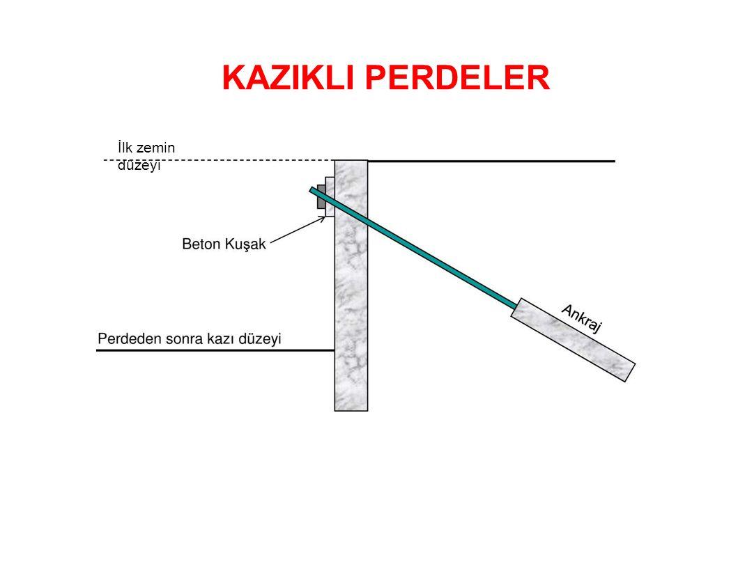 KAZIKLI PERDELER İlk zemin düzeyi
