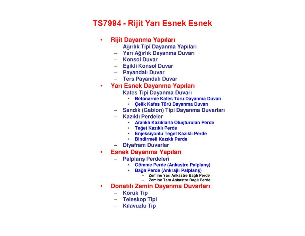 TS7994 - Rijit Yarı Esnek Esnek