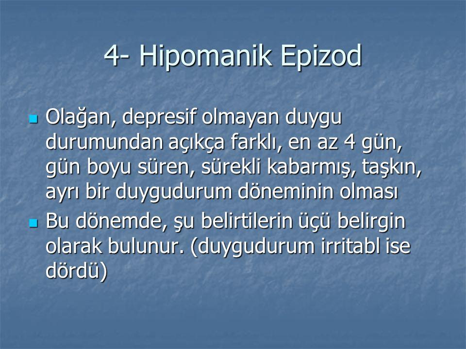 4- Hipomanik Epizod