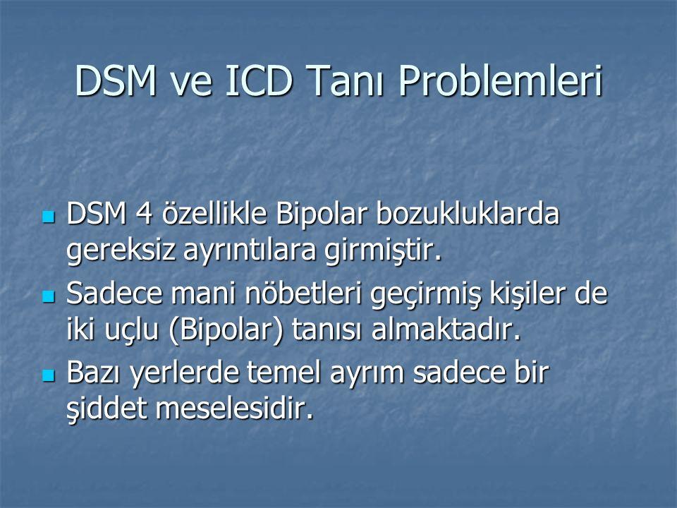 DSM ve ICD Tanı Problemleri
