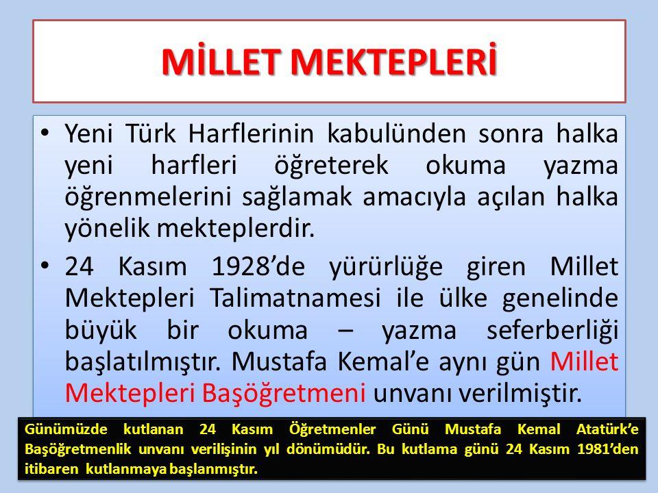 MİLLET MEKTEPLERİ