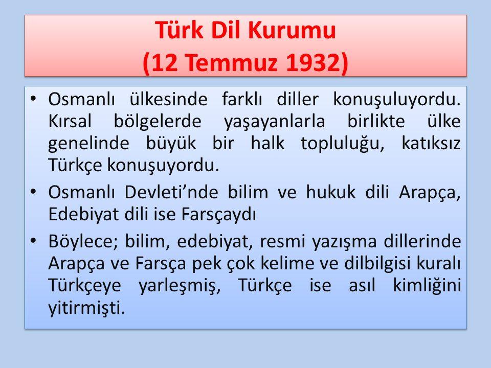 Türk Dil Kurumu (12 Temmuz 1932)