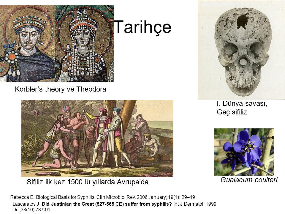 Tarihçe Körbler's theory ve Theodora I. Dünya savaşı, Geç sifiliz