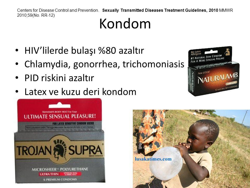 Kondom HIV'lilerde bulaşı %80 azaltır