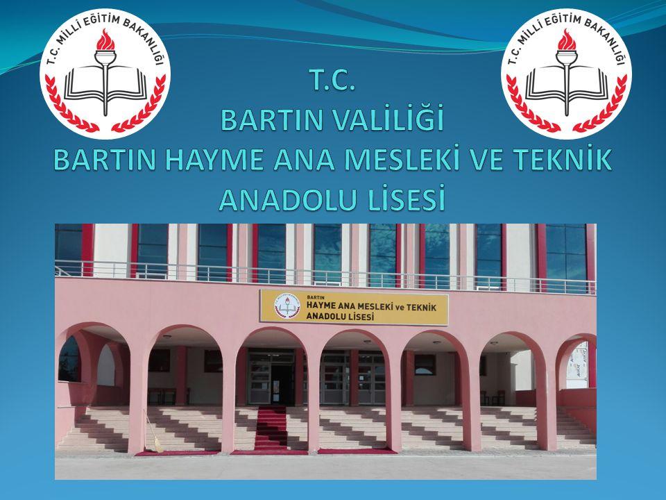 T.C. BARTIN VALİLİĞİ BARTIN HAYME ANA MESLEKİ VE TEKNİK ANADOLU LİSESİ