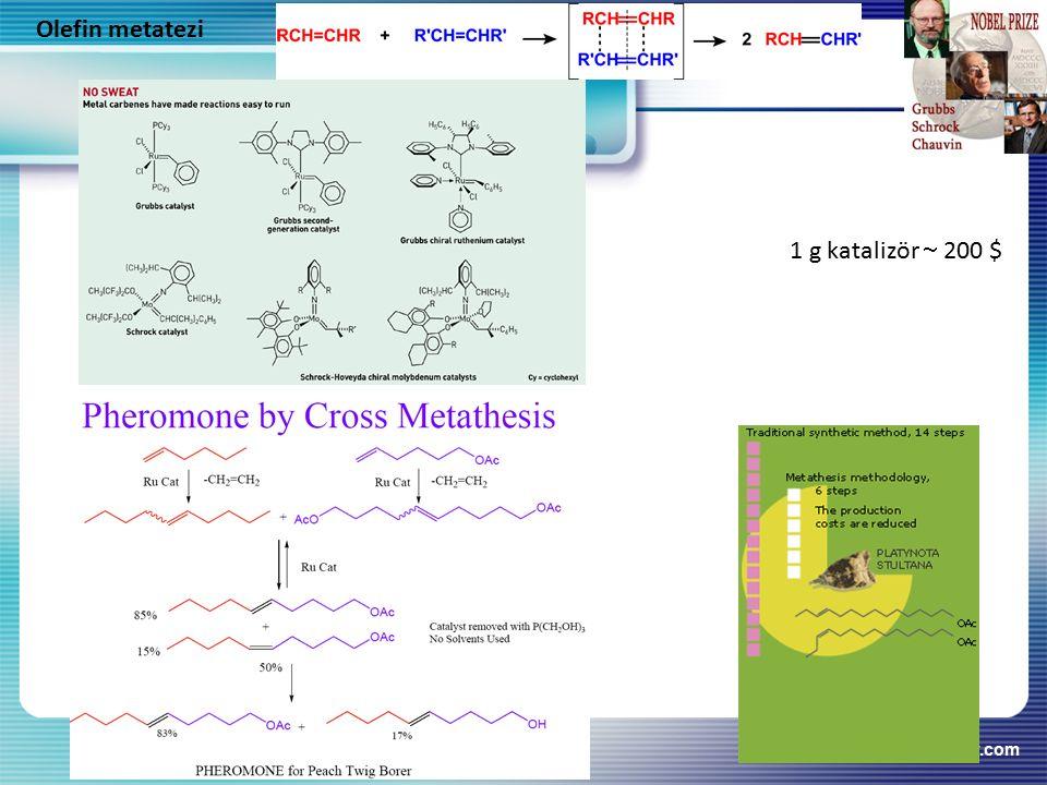 Olefin metatezi 1 g katalizör  200 $ www.themegallery.com