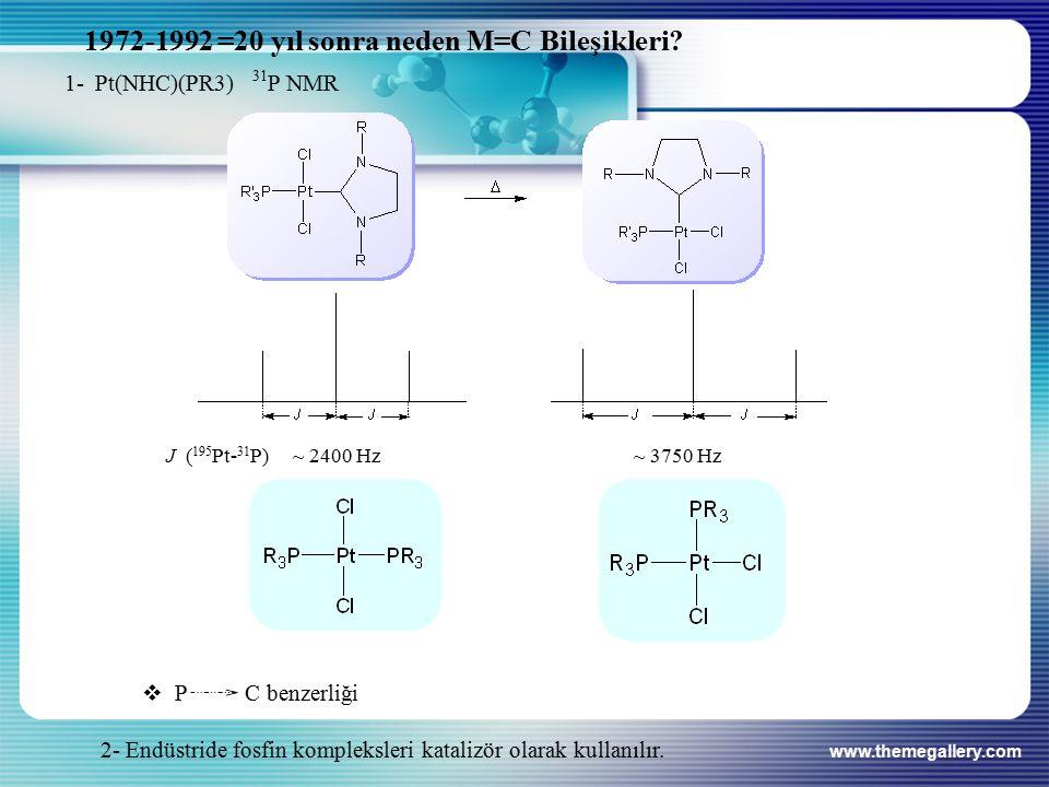 1972-1992 =20 yıl sonra neden M=C Bileşikleri