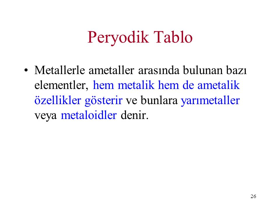 Peryodik Tablo