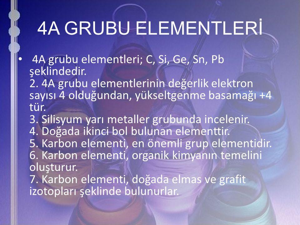 4A GRUBU ELEMENTLERİ