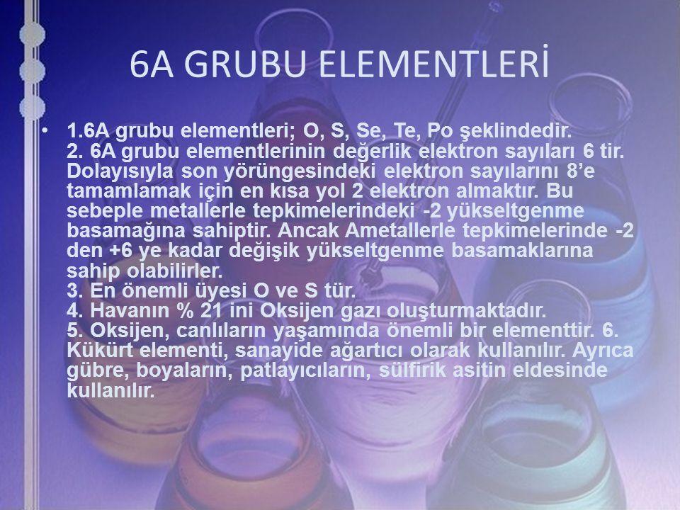 6A GRUBU ELEMENTLERİ