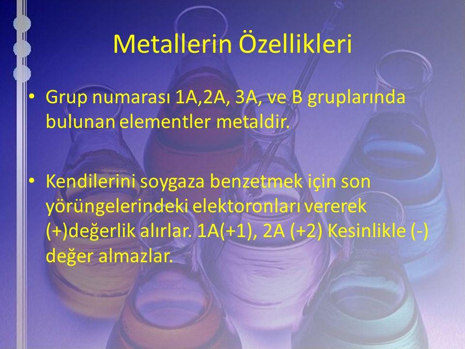 Metallerin Özellikleri