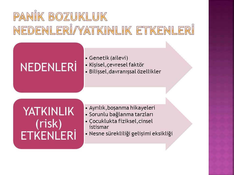 PANİK BOZUKLUK NEDENLERİ/YATKINLIK ETKENLERİ
