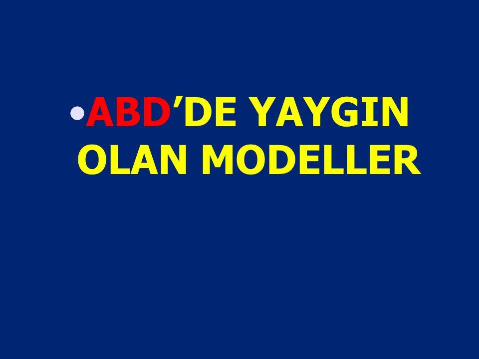 ABD'DE YAYGIN OLAN MODELLER