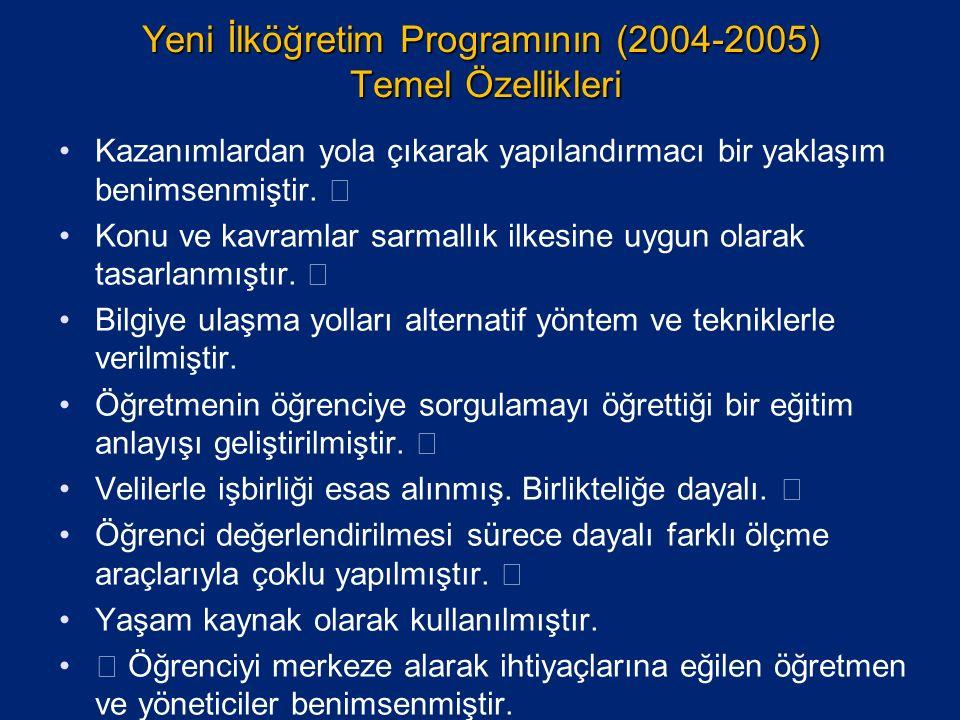 Yeni İlköğretim Programının (2004-2005) Temel Özellikleri