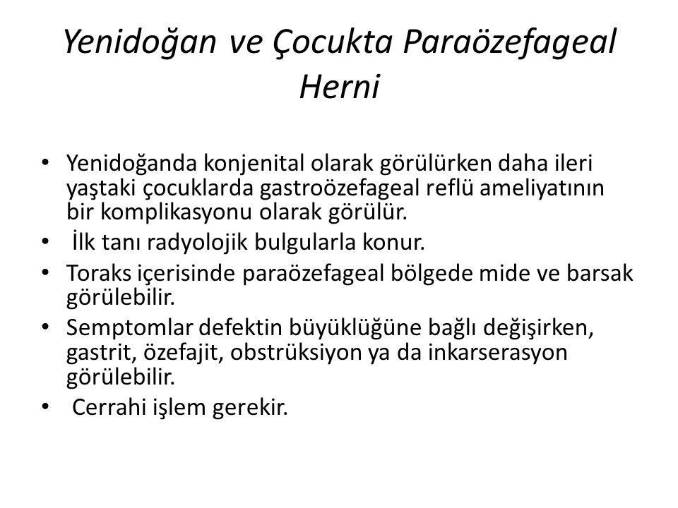 Yenidoğan ve Çocukta Paraözefageal Herni
