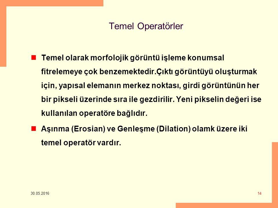 Temel Operatörler