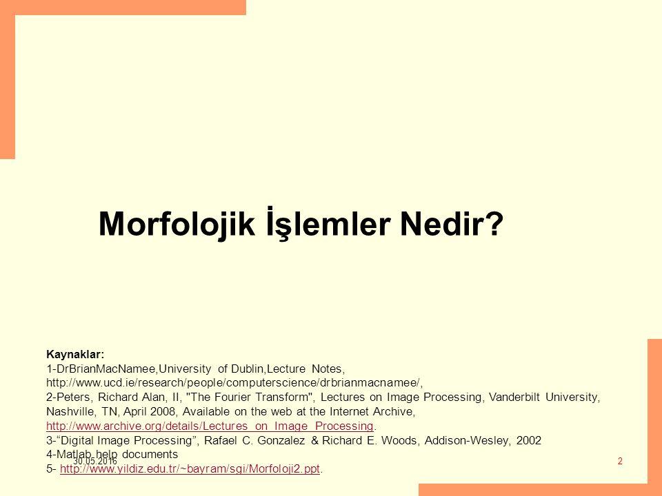 Morfolojik İşlemler Nedir