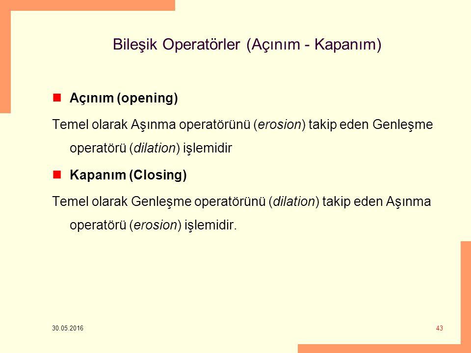 Bileşik Operatörler (Açınım - Kapanım)