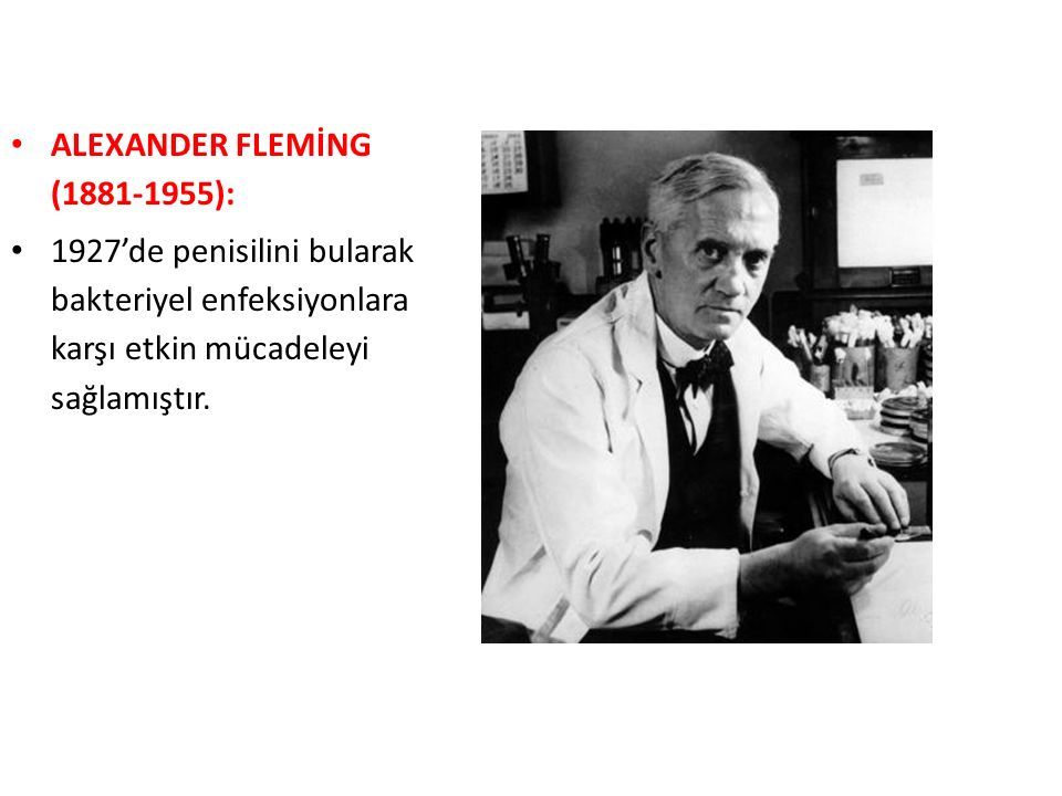 ALEXANDER FLEMİNG (1881-1955):
