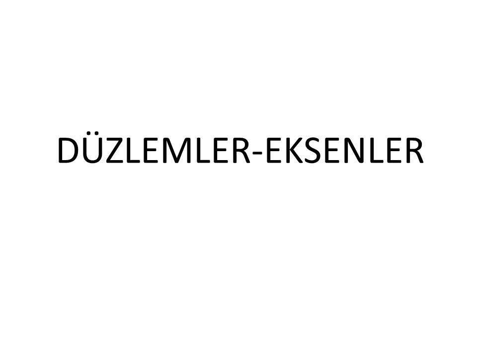 DÜZLEMLER-EKSENLER