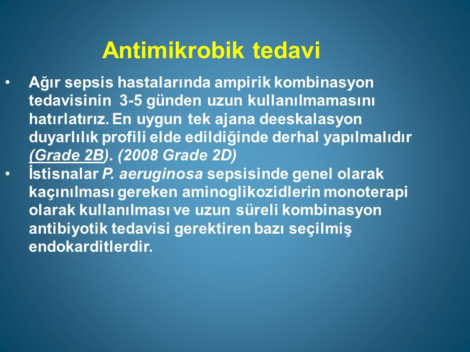 Antimikrobik tedavi