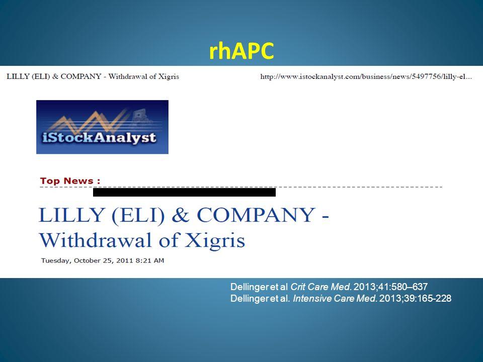 rhAPC Dellinger et al Crit Care Med. 2013;41:580–637