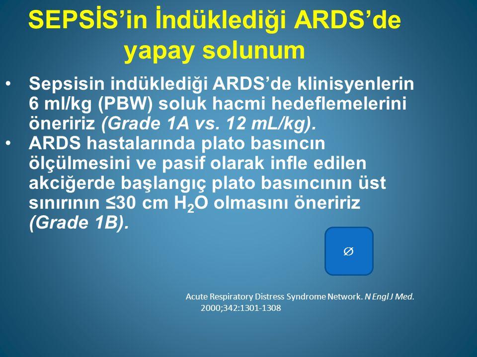 SEPSİS'in İndüklediği ARDS'de yapay solunum