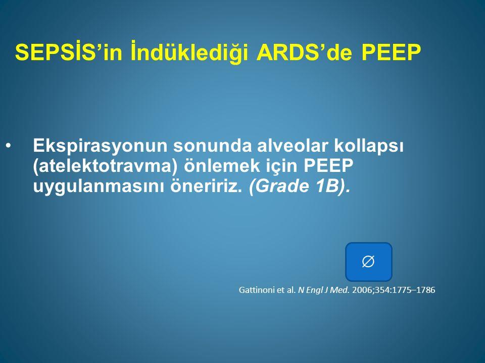 SEPSİS'in İndüklediği ARDS'de PEEP