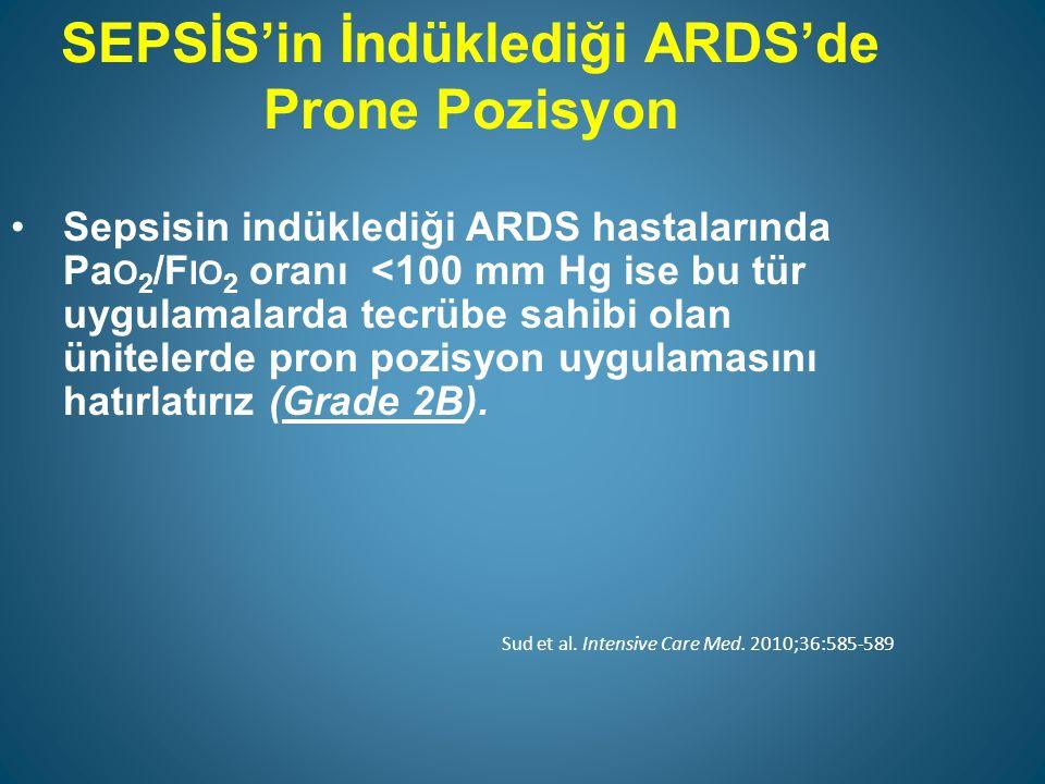 SEPSİS'in İndüklediği ARDS'de Prone Pozisyon