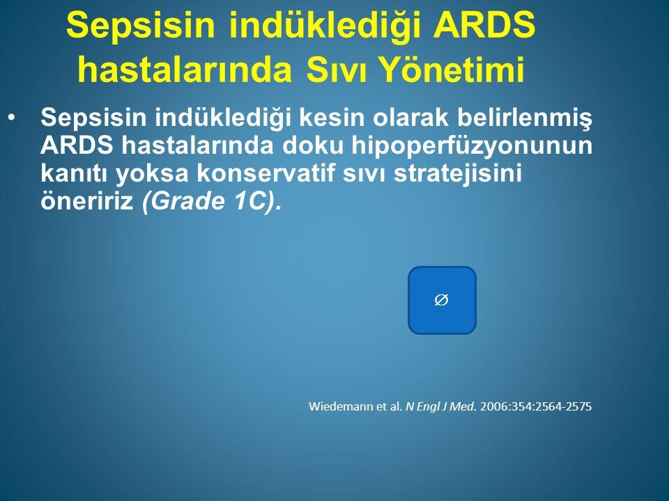 Sepsisin indüklediği ARDS hastalarında Sıvı Yönetimi