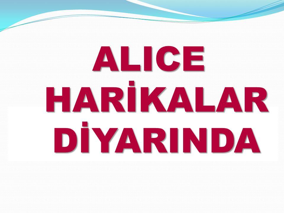 ALICE HARİKALAR DİYARINDA