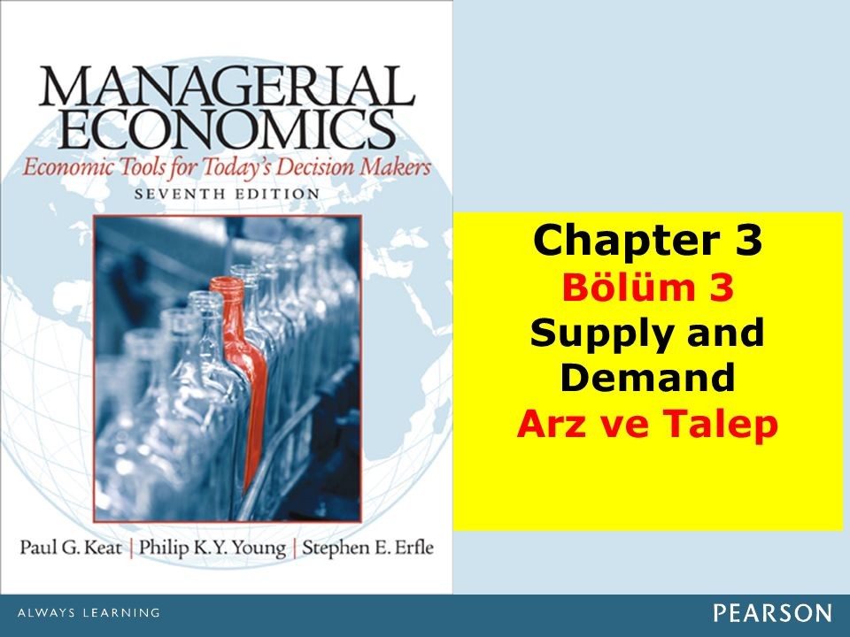 Chapter 3 Bölüm 3 Supply and Demand Arz ve Talep