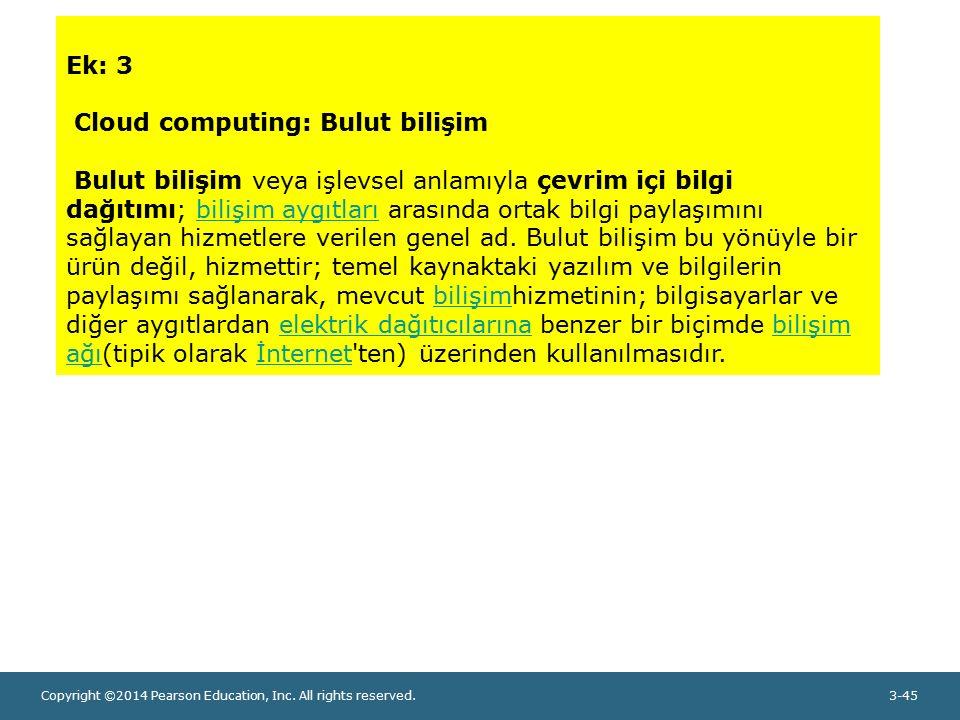 Ek: 3 Cloud computing: Bulut bilişim.