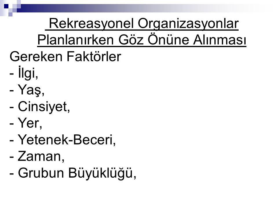 Rekreasyonel Organizasyonlar