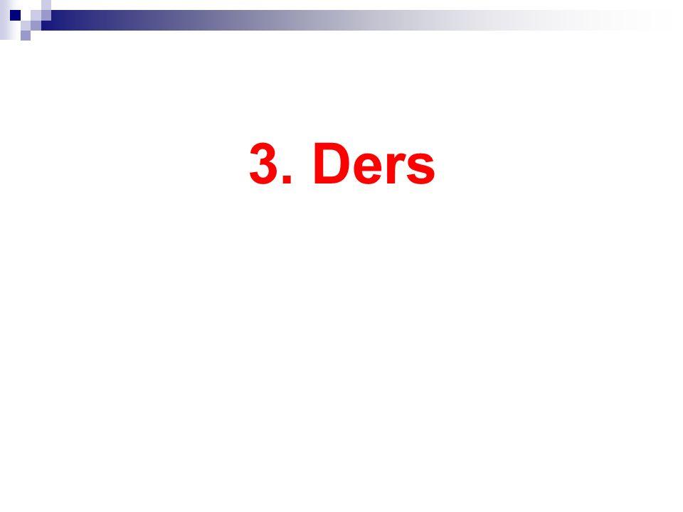 3. Ders