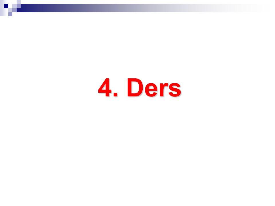 4. Ders