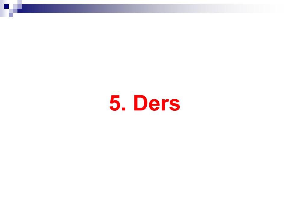 5. Ders