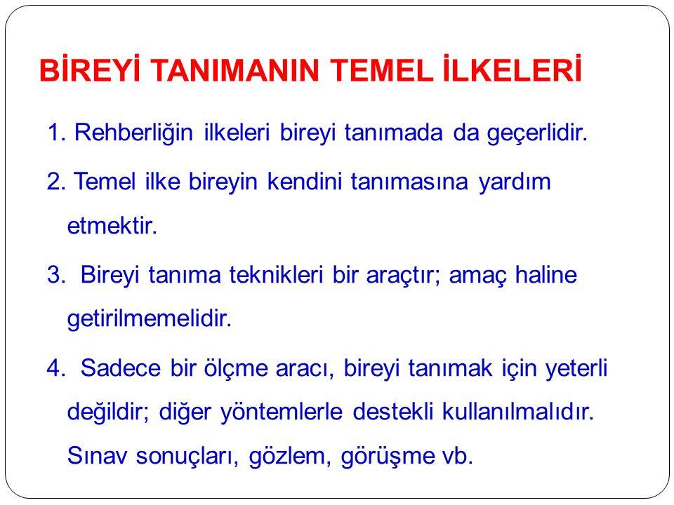 BİREYİ TANIMANIN TEMEL İLKELERİ