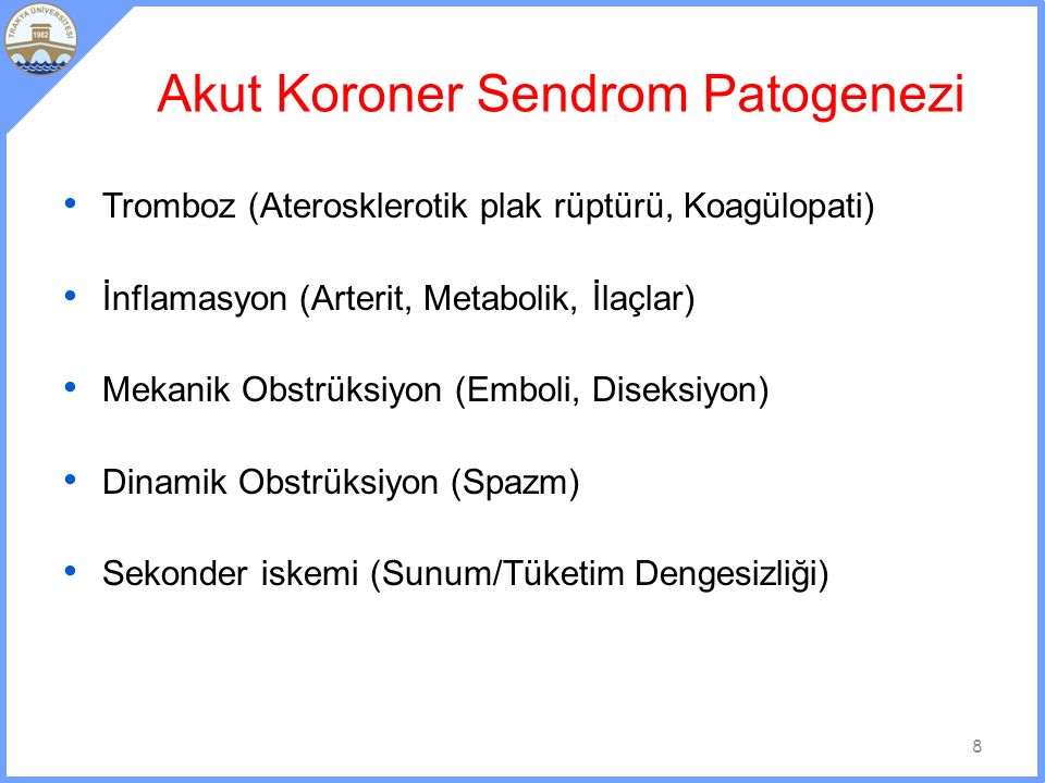 Akut Koroner Sendrom Patogenezi