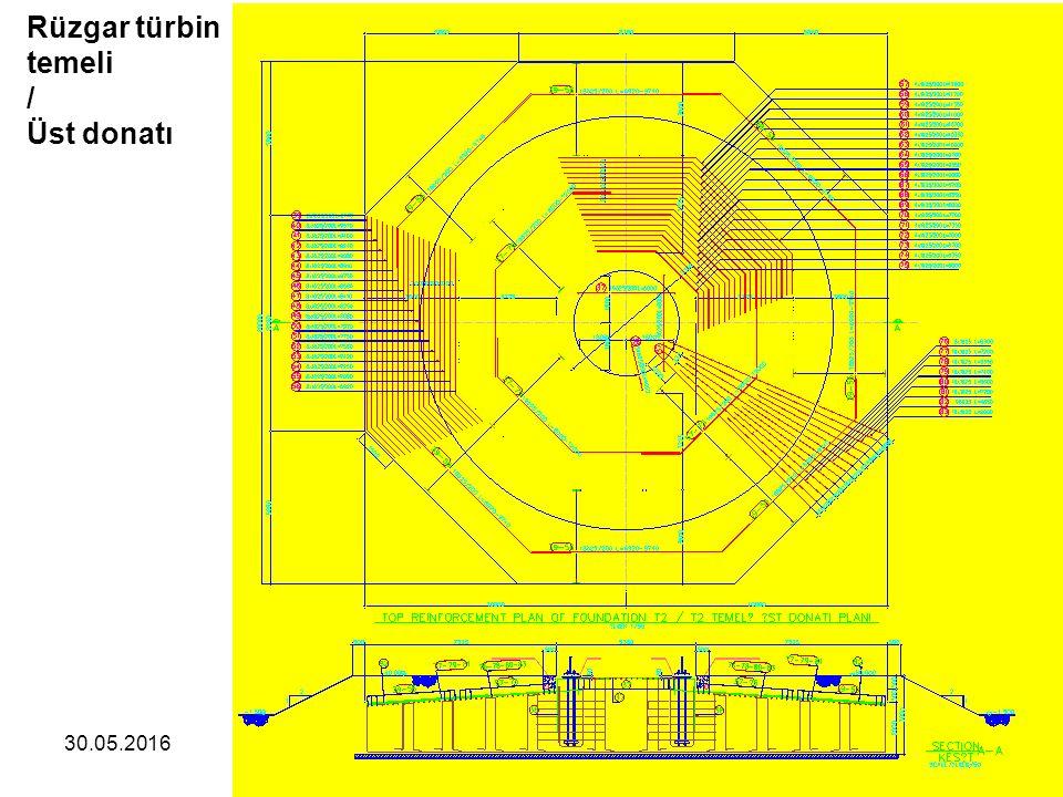 Rüzgar türbin temeli / Üst donatı 28.04.2017 60 /75 Zekai Celep 60