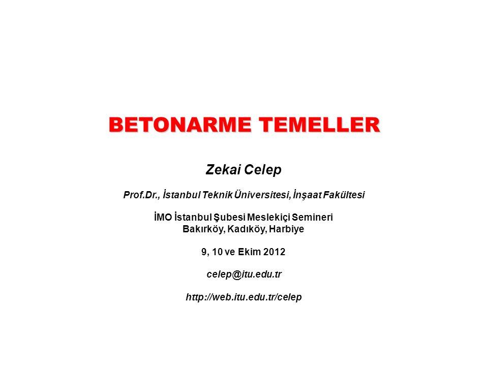 BETONARME TEMELLER Zekai Celep