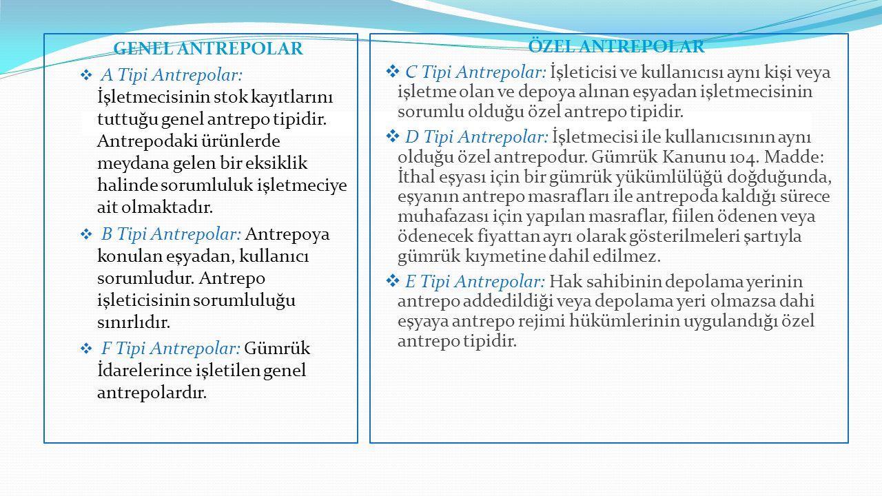 GENEL ANTREPOLAR