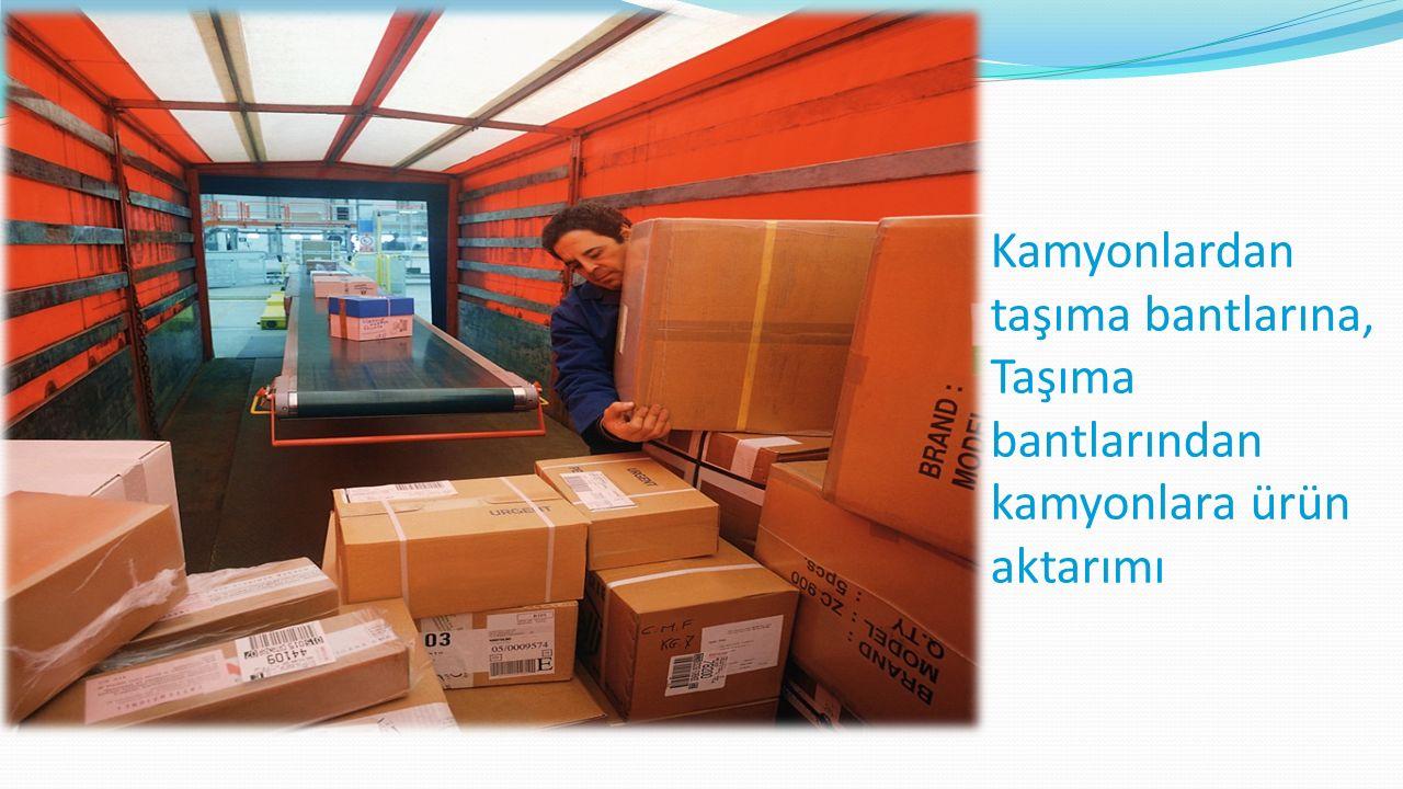 Kamyonlardan taşıma bantlarına, Taşıma bantlarından kamyonlara ürün aktarımı