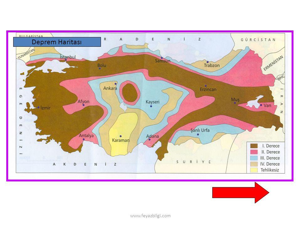 Deprem Haritası www.feyazbilgi.com