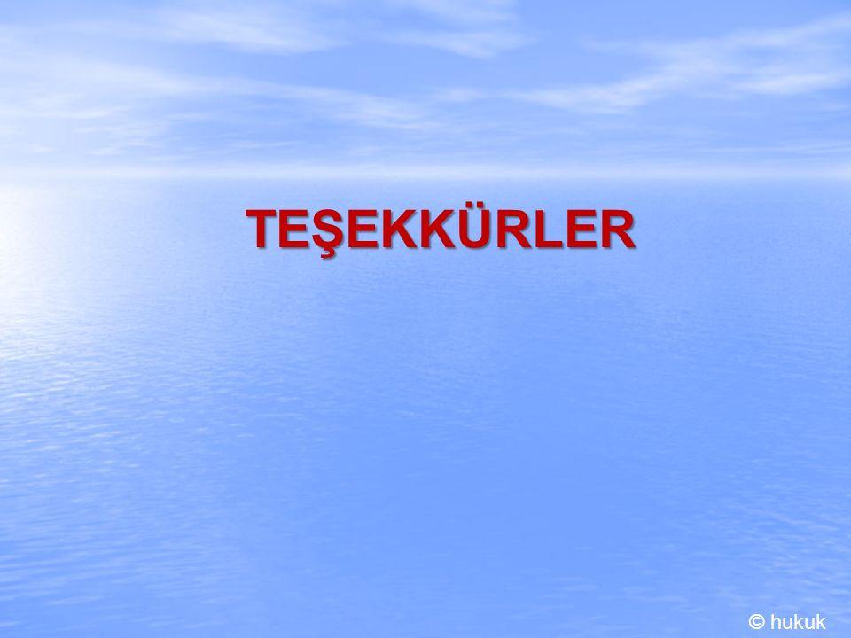 TEŞEKKÜRLER © hukuk