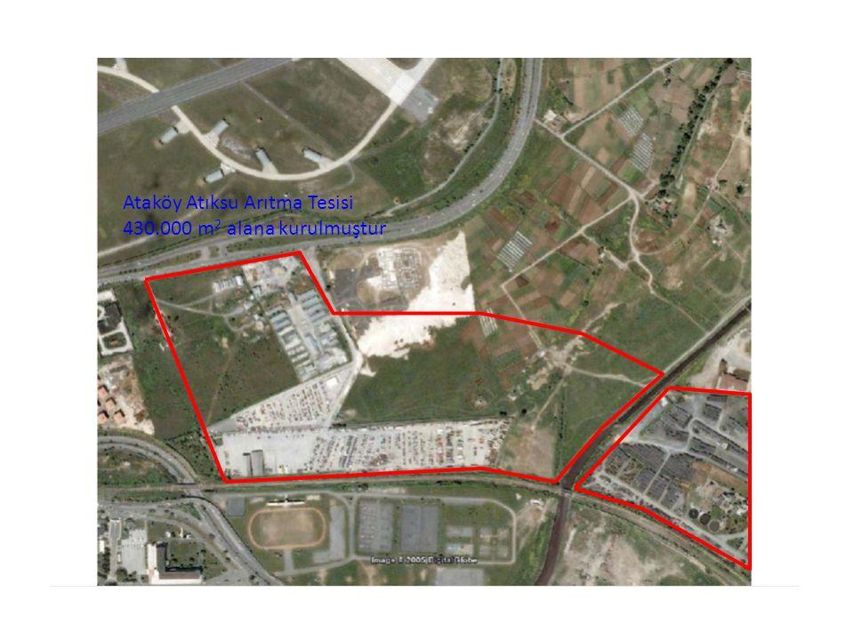 Ataköy Atıksu Arıtma Tesisi 430.000 m2 alana kurulmuştur