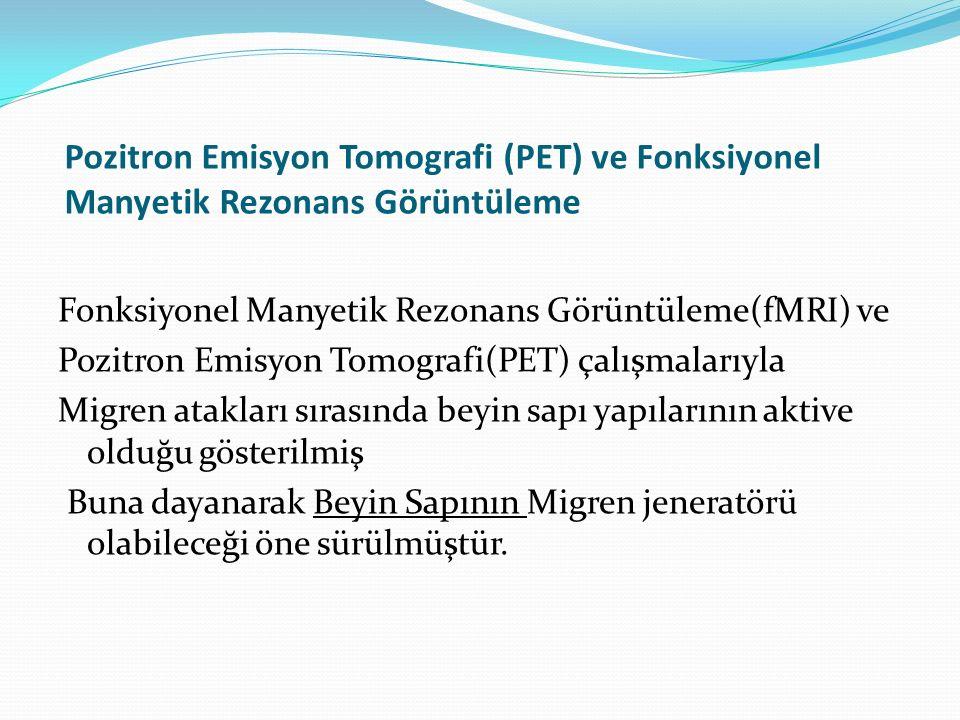Pozitron Emisyon Tomografi (PET) ve Fonksiyonel Manyetik Rezonans Görüntüleme