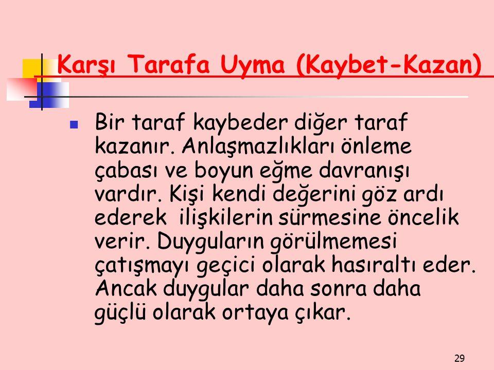 Karşı Tarafa Uyma (Kaybet-Kazan)